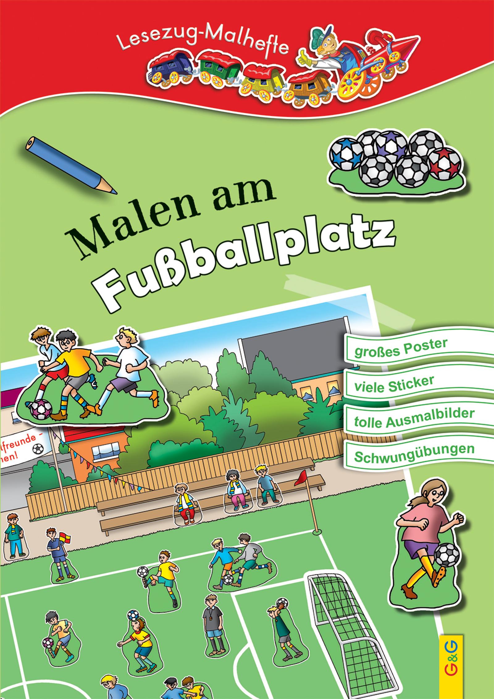 LESEZUG/ Malbuch: Malen am Fußballplatz – Mit Poster und Sticker ...